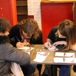 Mardi 3 février - Atelier d'écriture - avec l'Association Départementale d'Enfants Déficients Auditifs -